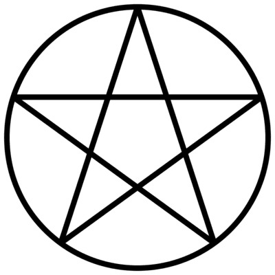 Wicca - Witchcraft - Penagram symbol - earth, air, water, fire, spirit