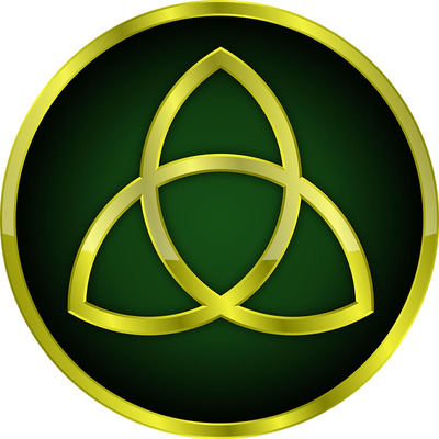 Triquetra symbolising the three goddesses - wicca
